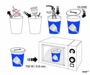 Yuuki mikrós intimkehely sterilizáló pohár
