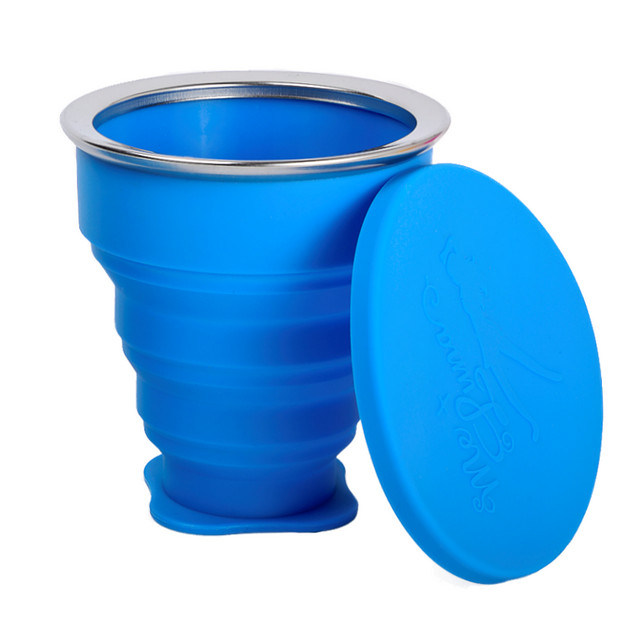 MeLuna szilikon sterilizáló pohár kék