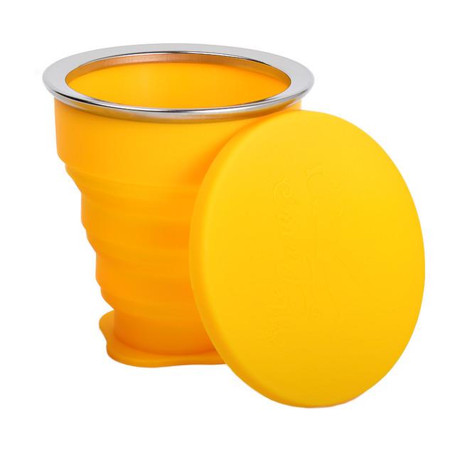 MeLuna szilikon sterilizáló pohár sárga